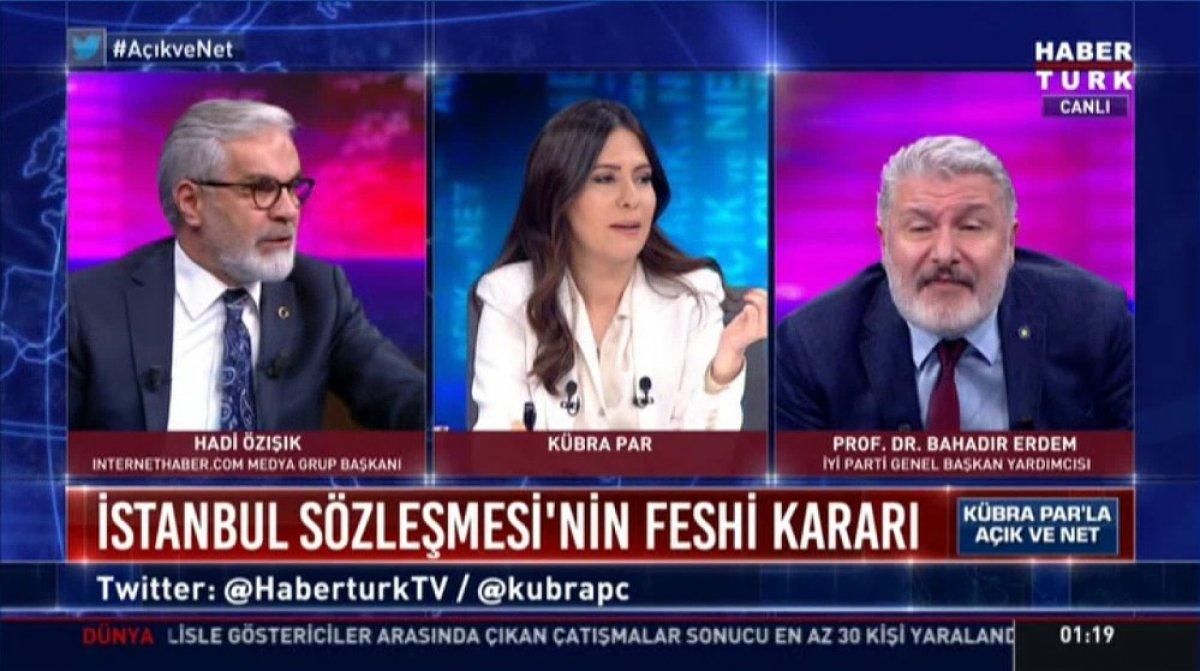 Hadi Özışık ile Bahadır Erdem in yüksek sesli tartışması #3